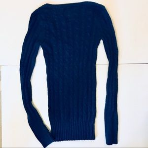 American Eagle Outfitters Sweaters - American Eagle navy blue cable knit sweater